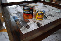 Staining a picture frame