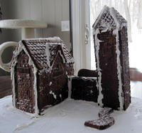 Gingerbread chateau baking disaster